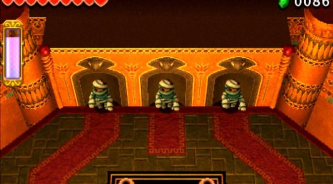 ゼルダの伝説 トライフォース3銃士 攻略 画像 6-3 砂漠エリア ギブドの棺