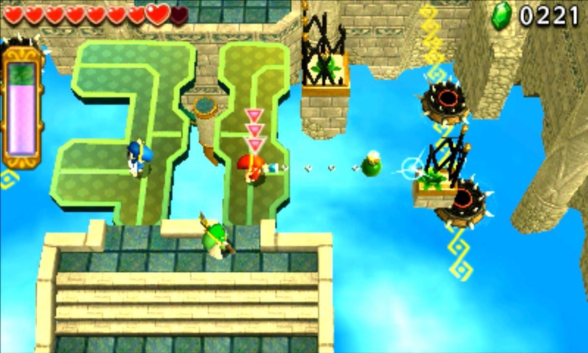 ゼルダの伝説 トライフォース3銃士 攻略 画像 8-2 天空エリア カラクリ浮遊城