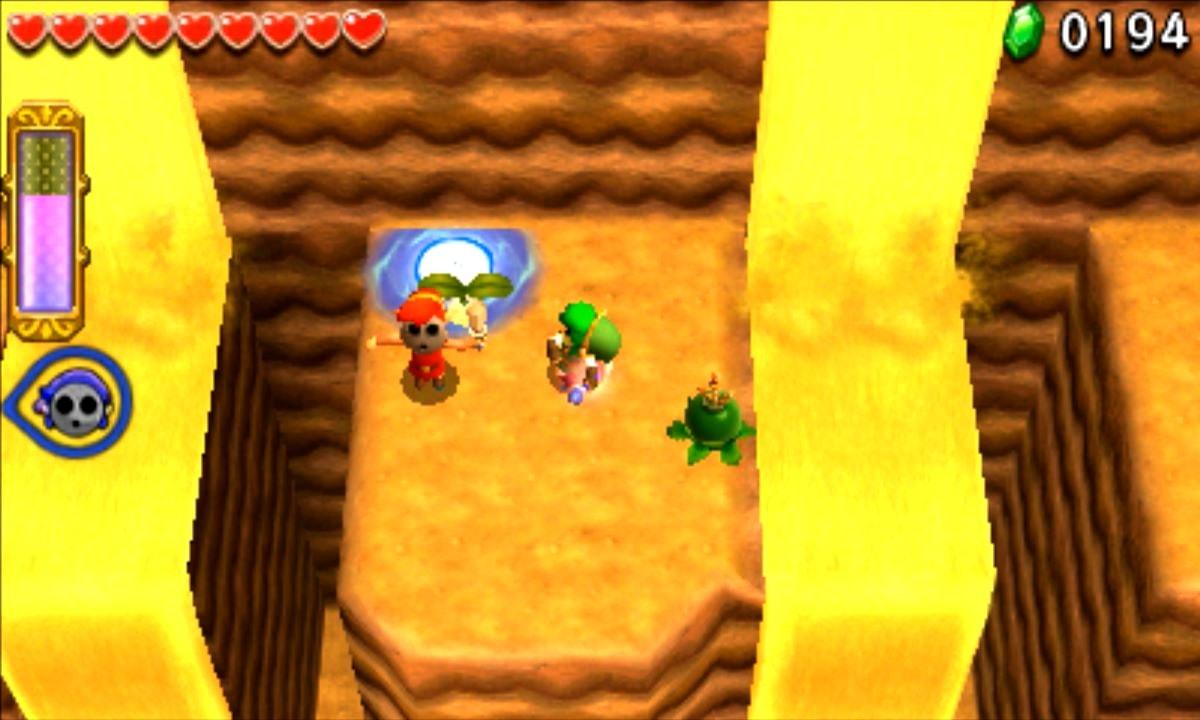 ゼルダの伝説 トライフォース3銃士 攻略 画像 6-1 砂漠エリア 底なし砂丘