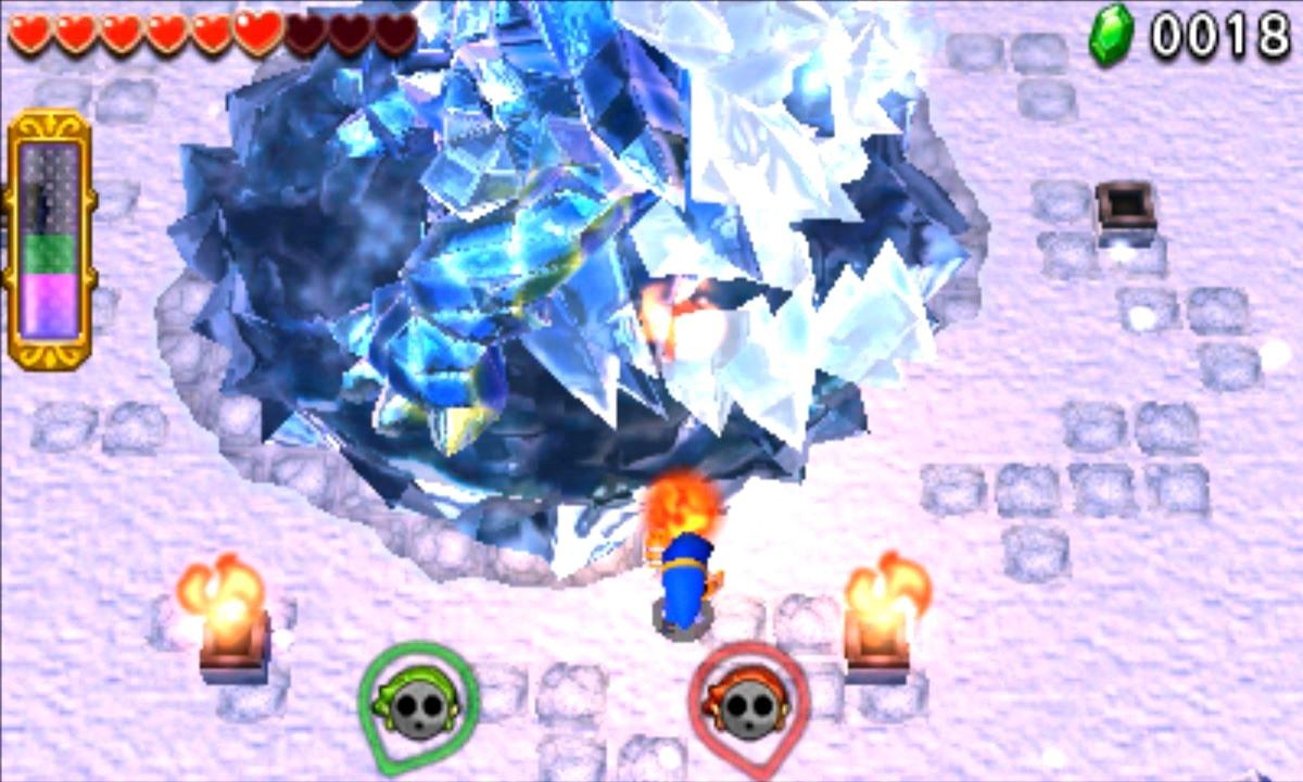 ゼルダの伝説 トライフォース3銃士 攻略 画像 4-2 氷雪エリア 雪玉渓谷