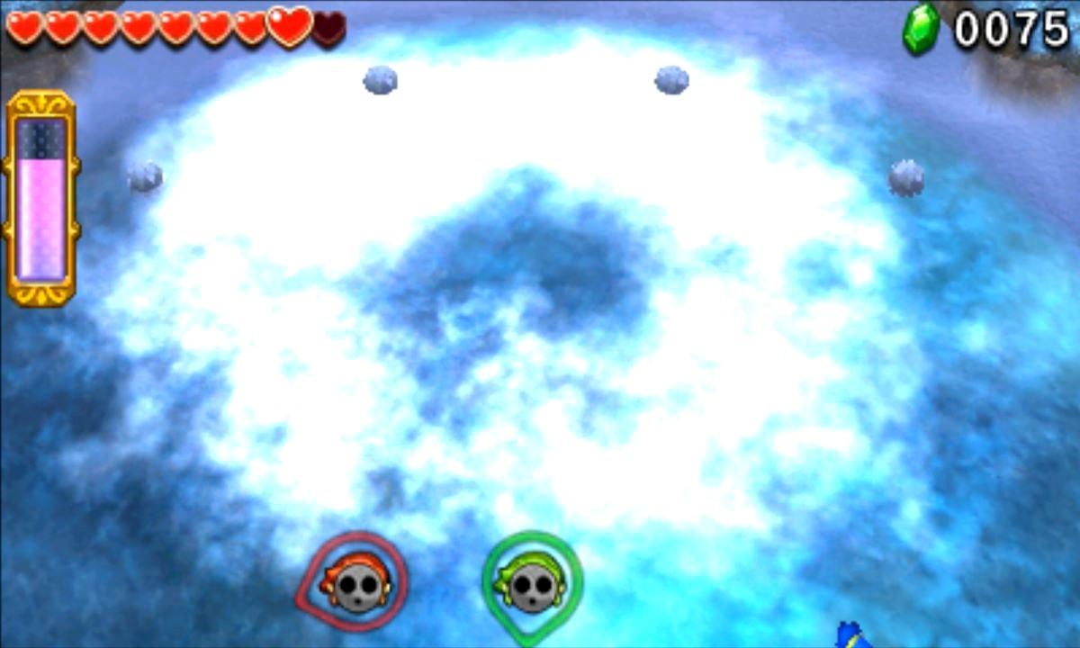 ゼルダの伝説 トライフォース3銃士 攻略 画像 4-4 氷雪エリア 氷のs神殿
