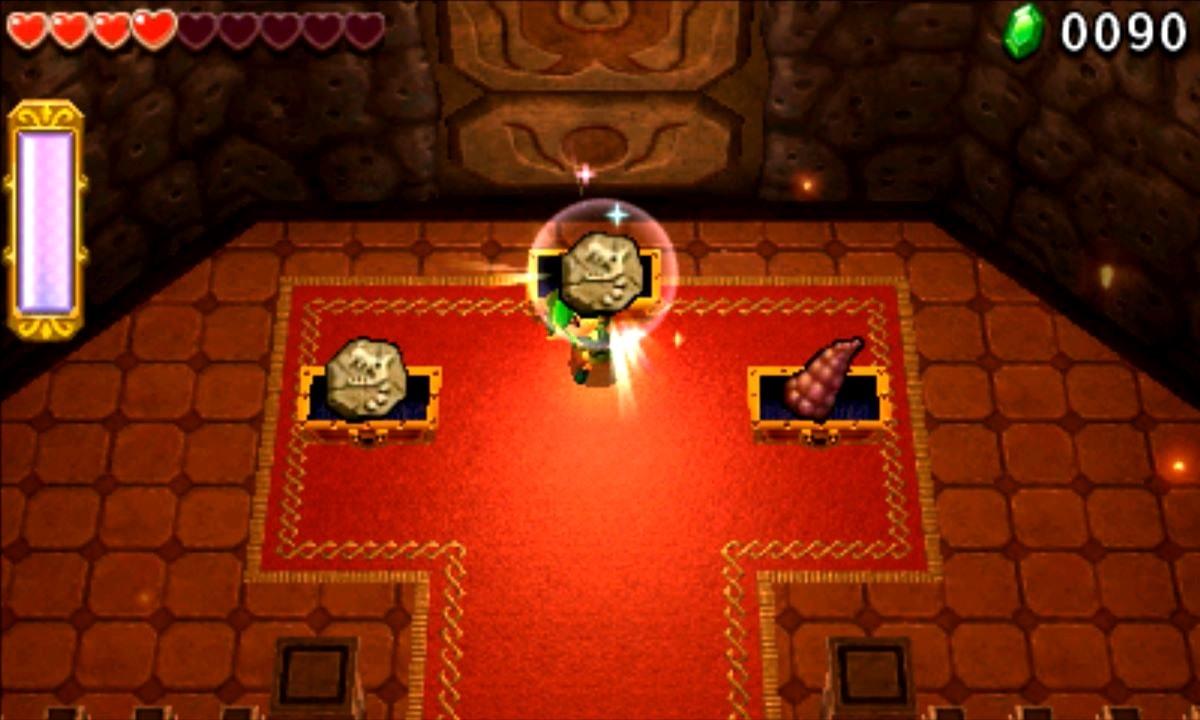 ゼルダの伝説 トライフォース3銃士 攻略 画像 3-4 火山エリア 炎の神殿