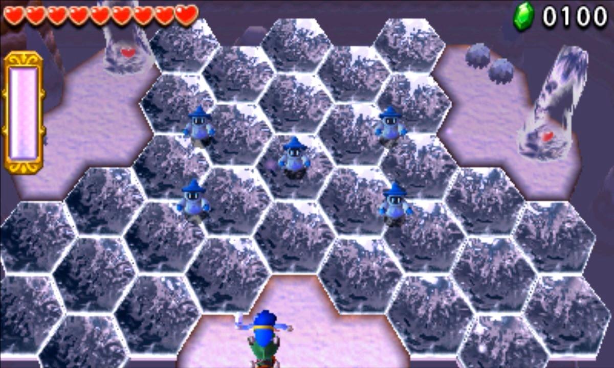 ゼルダの伝説 トライフォース3銃士 攻略 画像 4-1 氷雪エリア 氷結の大地
