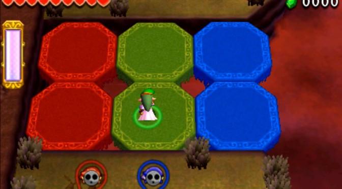 ゼルダの伝説 トライフォース3銃士 攻略 画像 7-1 廃墟エリア まやかし屋敷