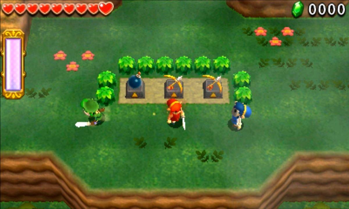 ゼルダの伝説 トライフォース3銃士 攻略 画像 1-1 森林エリア モリブリンの砦