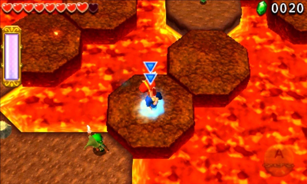ゼルダの伝説 トライフォース3銃士 攻略 画像 3-1 火山エリア しゃくねつ登山道