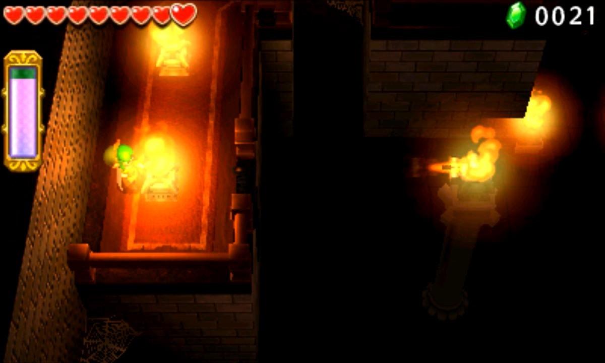 ゼルダの伝説 トライフォース3銃士 攻略 画像 7-2 廃墟エリア くらやみの館