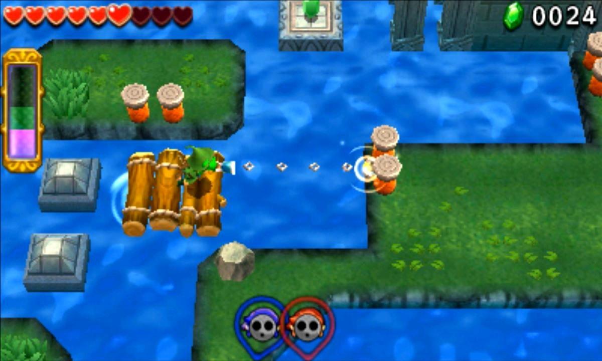 ゼルダの伝説 トライフォース3銃士 攻略 画像 2-3 水源エリア うつろいの入り江