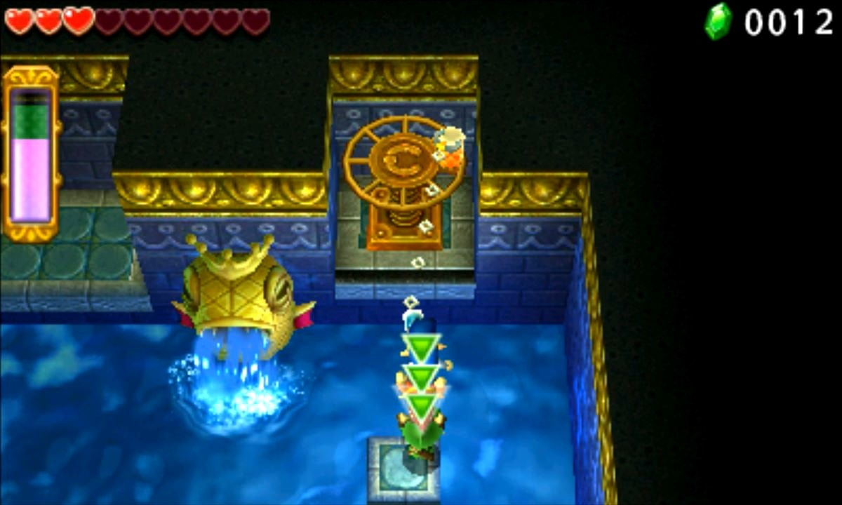 ゼルダの伝説 トライフォース3銃士 攻略 画像 2-4 水源エリア 水の神殿