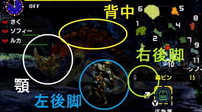モンハン クロス 攻略 画像 テツカブラ 部位 破壊