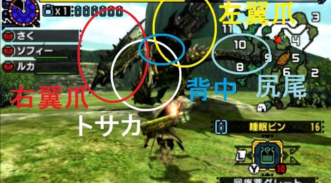 モンハン クロス 攻略 画像 ライゼクス 部位 破壊 弱点