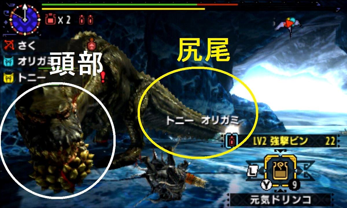MHX モンハン クロス 攻略 画像 イビルジョー 部位 破壊 弱点