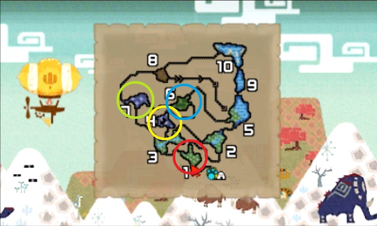 モンハン クロス 攻略 画像 ペアライト石 入手 場所