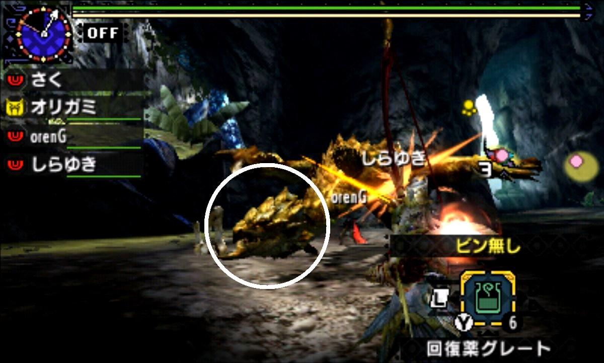 MHX モンハン クロス 攻略 画像 リオレイア希少種 金レイア 部位 破壊 弱点