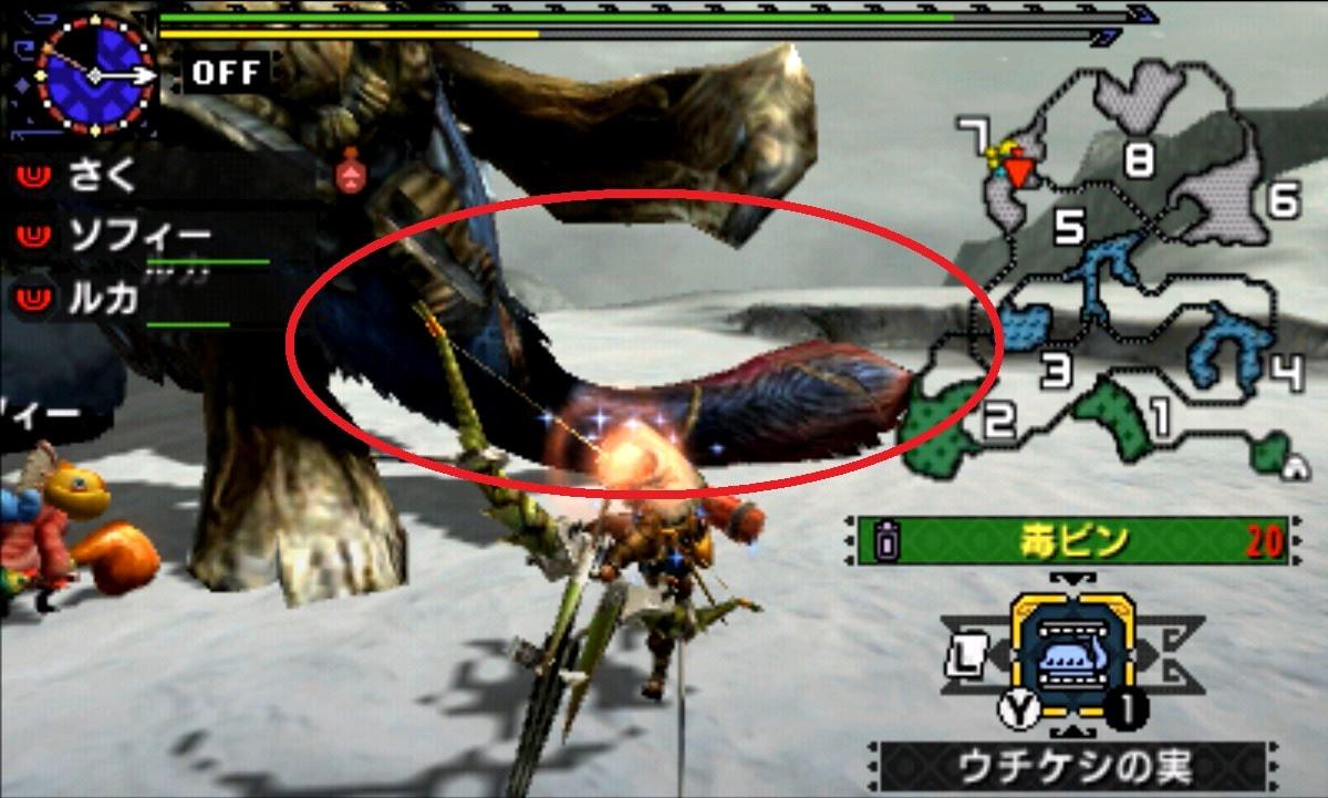 モンハン クロス 攻略 画像 ガムート 部位 破壊 弱点