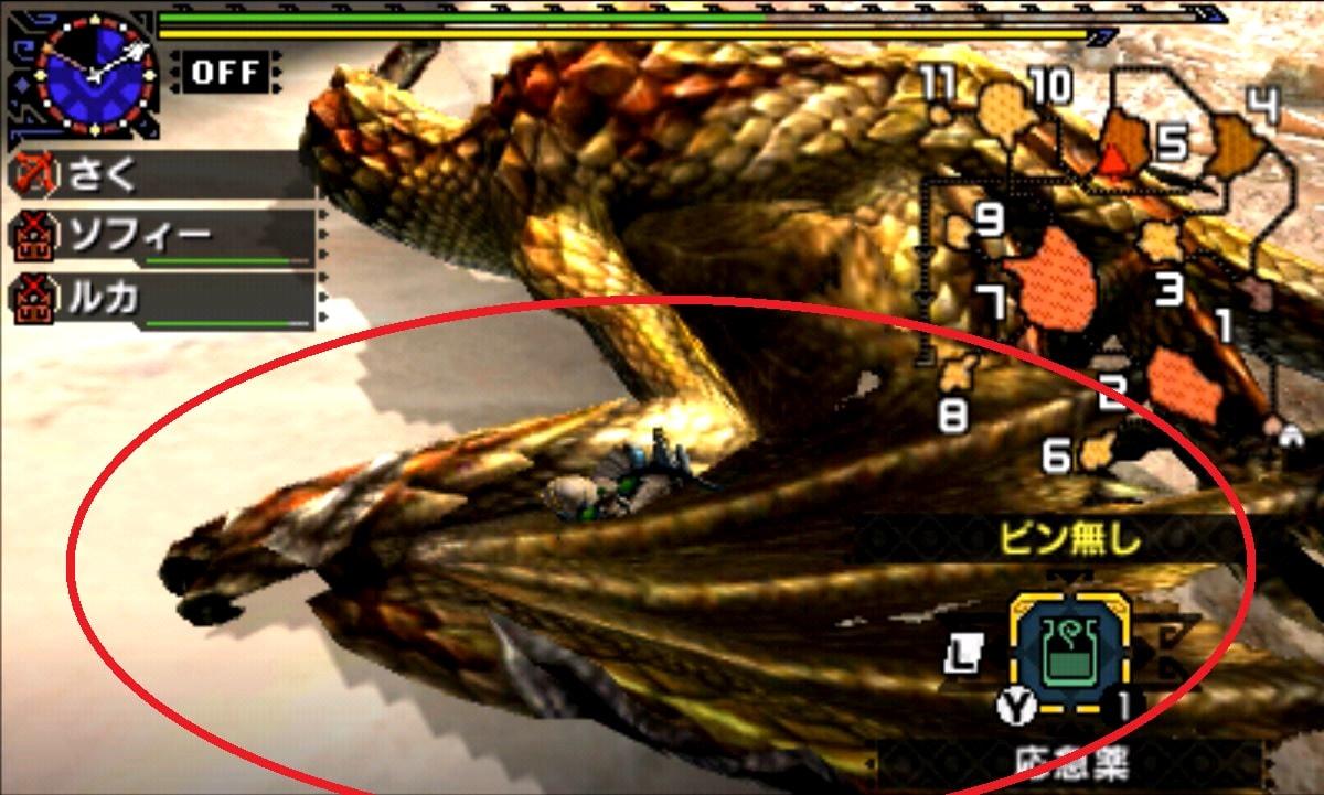 モンハン クロス 攻略 画像 セルレギオス 部位 破壊 弱点