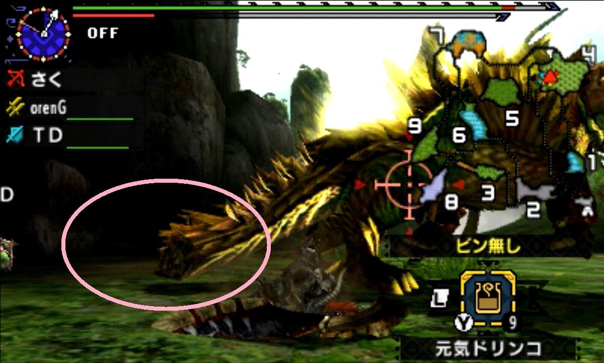 MHX モンハン クロス 攻略 画像 二つ名 金雷公ジンオウガ 部位 破壊 弱点