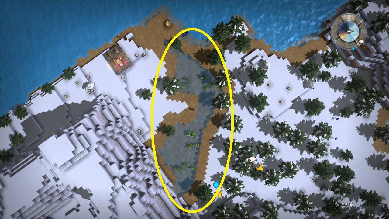 全体マップでため池を見つける
