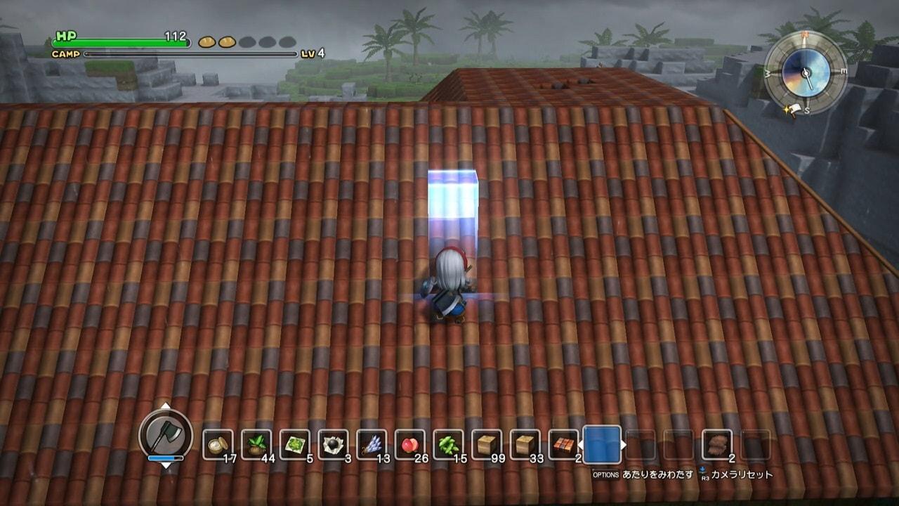 廃墟の屋根を修理する