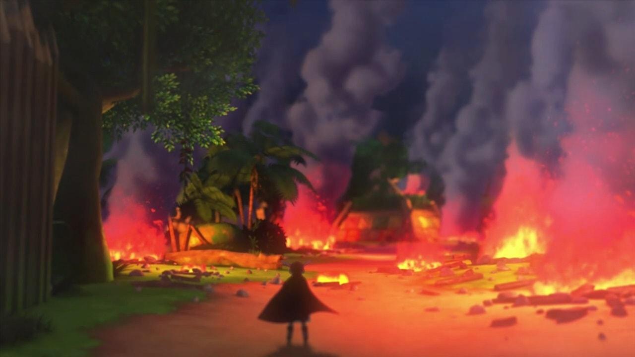 燃えるエテーネの村