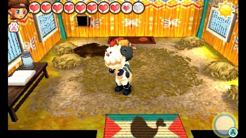 ニワトリをだっこする牛