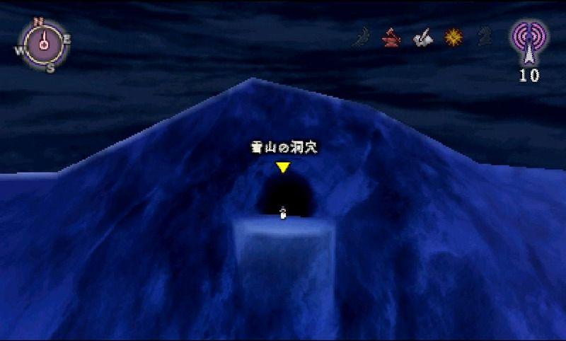 雪山の洞穴