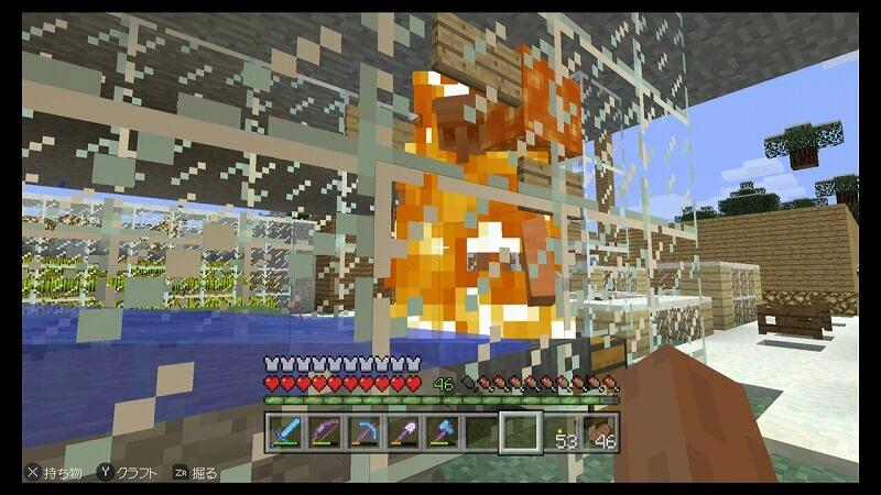 燃えるアイアンゴーレム