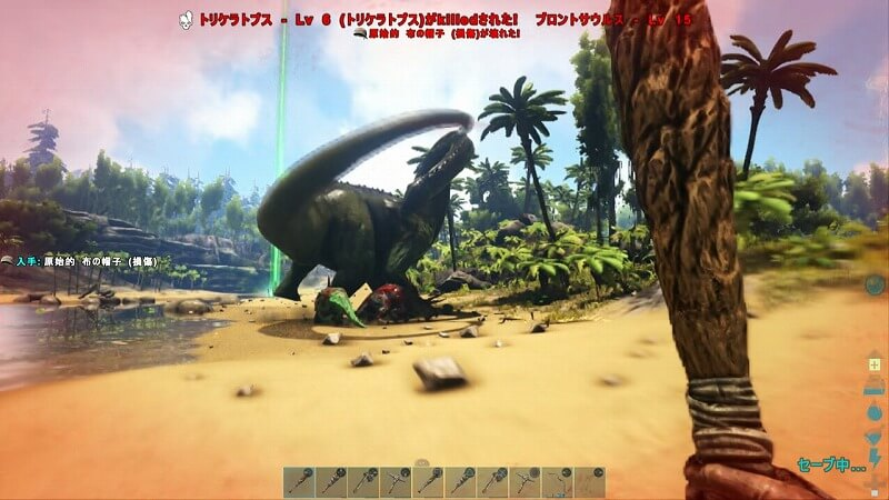 ブロントサウルスの攻撃