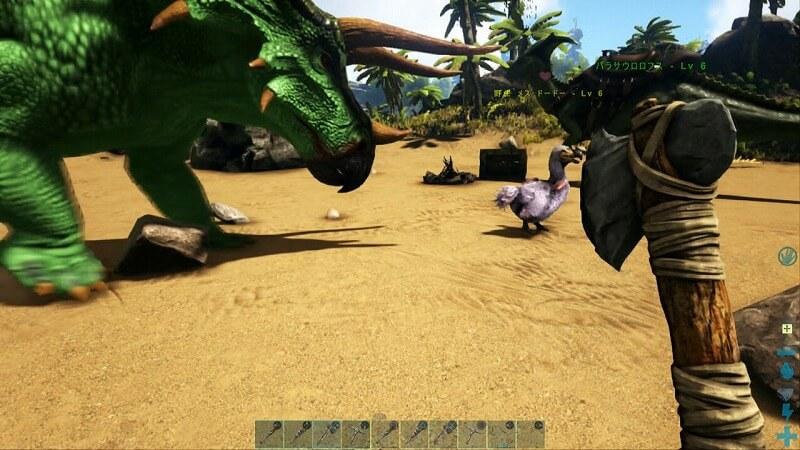 トリケラトプスの攻撃