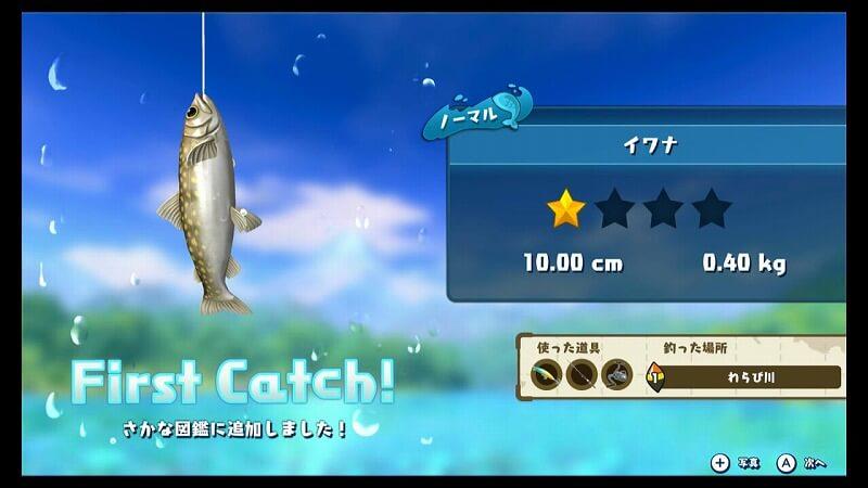 初めての魚