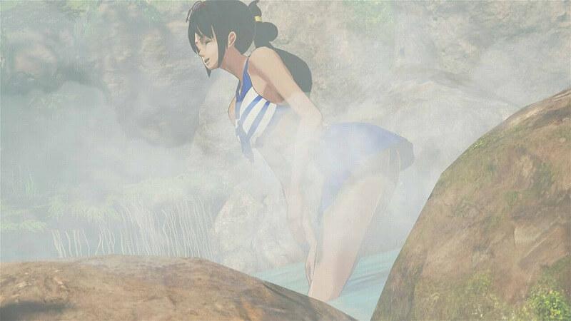 たしぎの温泉シーン